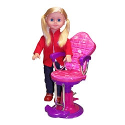 Salon Chair and On the Go Girl Fashion Doll (18-inch)