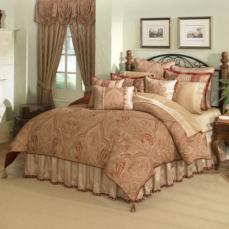 Castille 4 Piece King Size Comforter Set Overstock