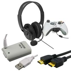 Headset with Microphone/ Battery/ HDMI Cable for Microsoft Xbox 360