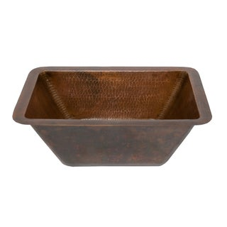 Rectangle Oil Rubbed Bronze Copper Undercounter Bar Sink