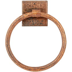 7-inch Hand-hammered Copper Towel Ring
