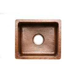 Rectangular Gourmet Oil Rubbed Bronze Copper Drop-in Bar Sink