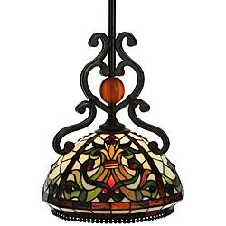 Tiffany Style Baroque Pendant