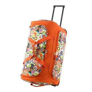 Olympia 'Spring' 26-inch Fashion Rolling Upright Duffel Bag