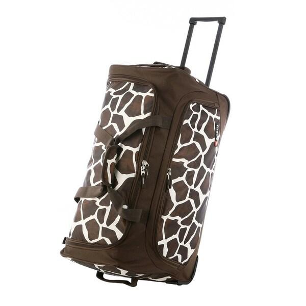 Olympia 'Giraffe' 26-inch Fashion Rolling Upright Duffel Bag