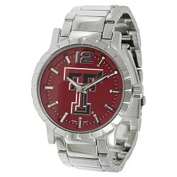 Geneva Platinum Men's Texas Tech University Link Watch