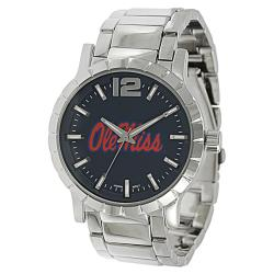 Geneva Platinum Men's Ole Miss Rebels Link Watch