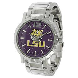 Geneva Platinum Men's LSU Tigers Link Watch