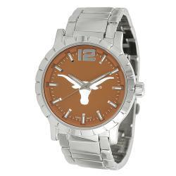 Geneva Platinum Men's Texas Longhorns Link Watch