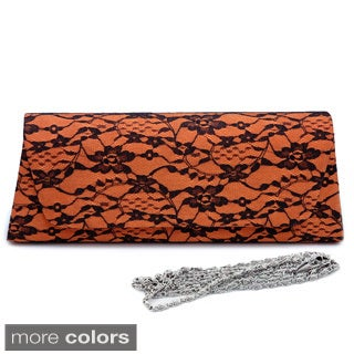 Dasein Satin Lace Clutch
