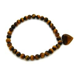 Pearlz Ocean Yellow Tiger's Eye Bead Stretch Bracelet