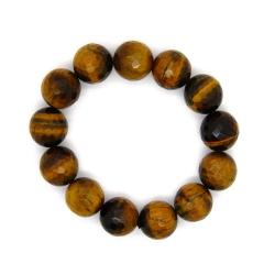 Pearlz Ocean Yellow Tiger's Eye Faceted Bead 16-mm Stretch Bracelet