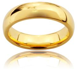 Men's Goldplated Tungsten Carbide Classic Ring (6-8 mm)