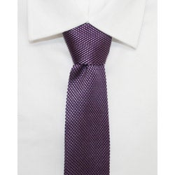 H. Luzzario & Co Men's Lavender Silk Knit Tie