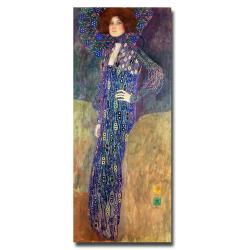 Gustav Klimt 'Emilie Floege' Gallery-Wrapped Canvas Art
