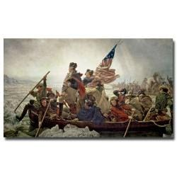 Emanuel Leutze 'Washington Crossing Delaware River in 1776' Horizontal Canvas Art