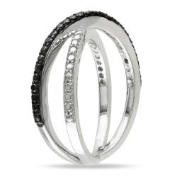 M by Miadora Sterling Silver Black Diamond  Ring