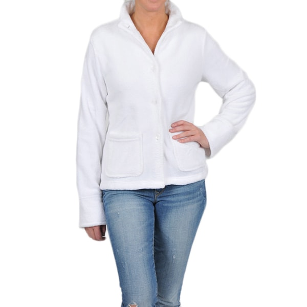 La Cera Women's Stand Collar Plush Jacket 8641844