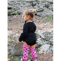 Mia Belle Baby Little Black Dress Princess Romper