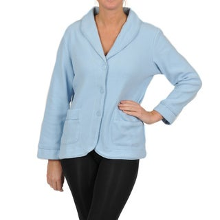 La Cera Women's Long Sleeve Three-button Shawl Collar Jacket