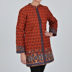 La Cera Women's Quitled Knee-Length Jacket