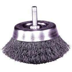 Stem-Mounted Crimped Wire Cup Brush