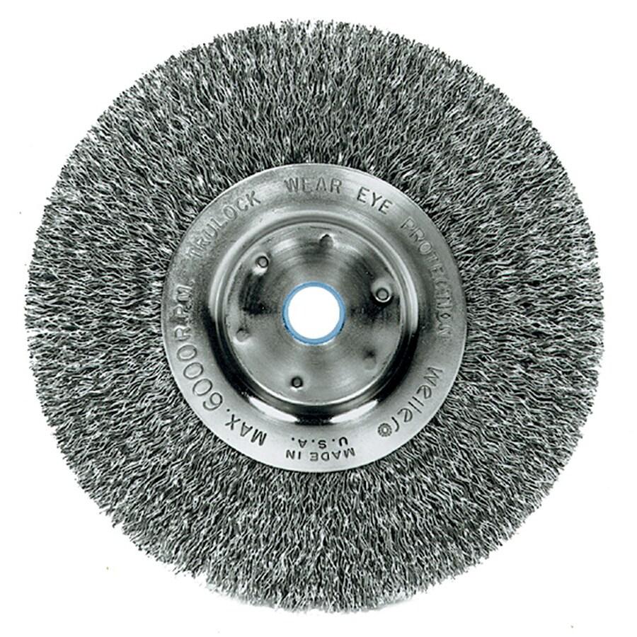 Trulock Narrow-Face Crimped Steel Wire Wheel
