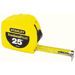 Stanley 25-foot Fraction Read Tape Measurer