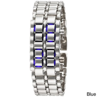 Men's Stainless Steel Lava LED Digital Bracelet Watch