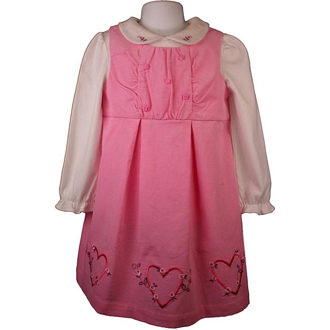 Little Bitty Pink Corduroy Jumper Dress