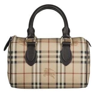 Burberry Small Haymarket Bowling Bag