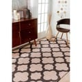 "Handmade Moroccan Trellis Abstract Wool Rug (7'6"" x 9'6"")"