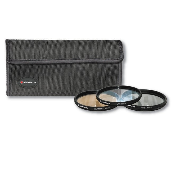 Black Protective AGFA 46mm Filter Kit with Photo-warming Effect
