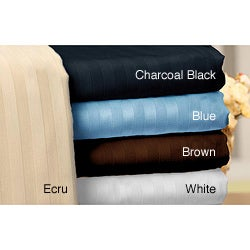Walra Cotton Sateen 400 Thread Count Queen and King Stripe Sheet Set