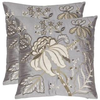 Sea Garden 18-inch Blue-grey Decorative Pillows (Set of 2)