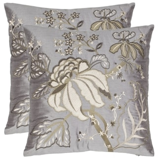 Safavieh Sea Garden 18-inch Blue-grey Decorative Pillows (Set of 2)
