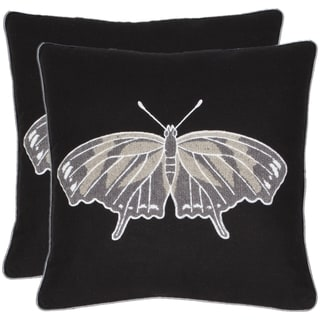 Marine Ray 18-inch Black Decorative Pillows (Set of 2)