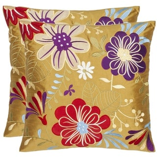 Japan Garden 18-inch Gold Decorative Pillows (Set of 2)