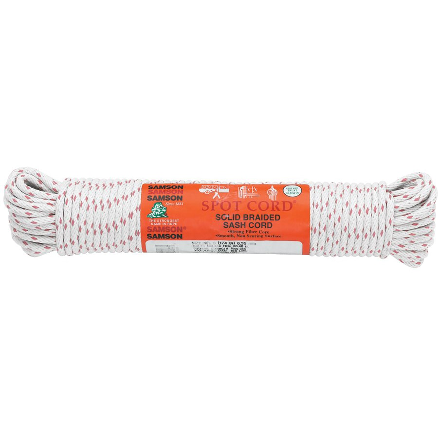 Samson Rope 3/8 Inch Cotton Sash Cord (2 Pack)