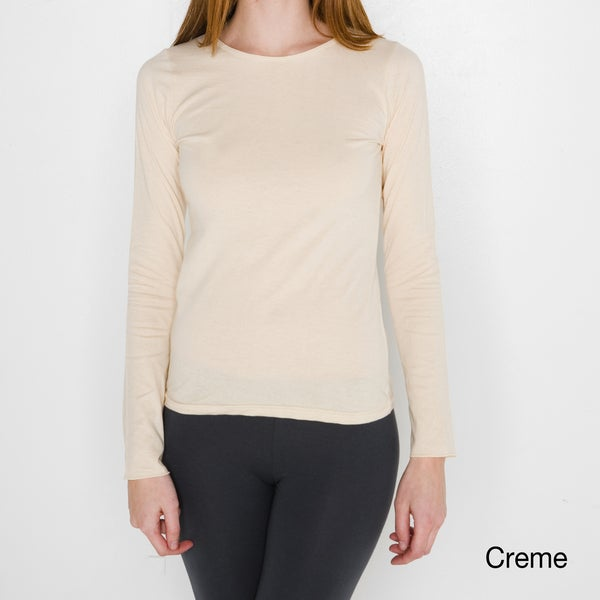 American Apparel Women's Sheer Jersey Long Sleeve T-shirt