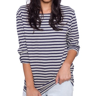 American Apparel Unisex Sailor Stripe Long Sleeve Pullover