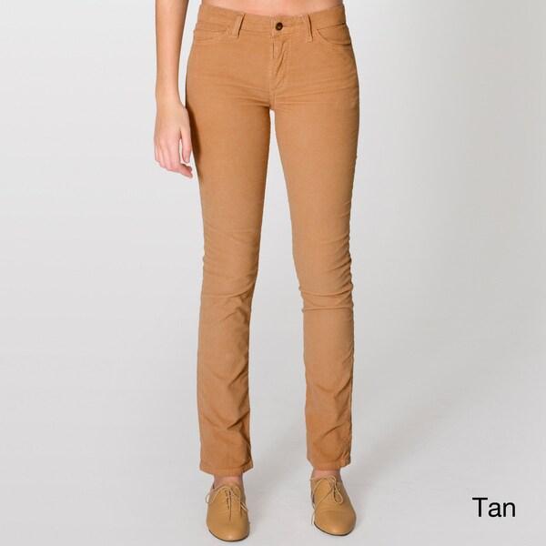 American Apparel Unisex Corduroy Slim Pant