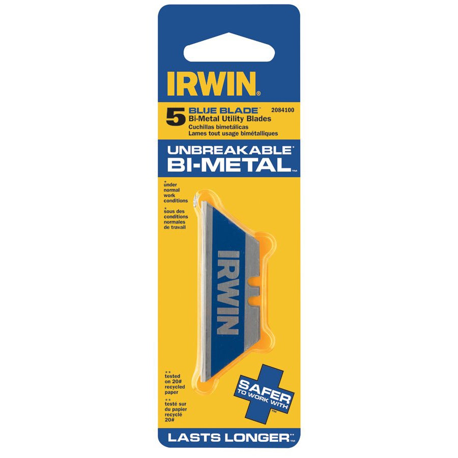 Irwin Utility Knife Bi-Material Blades (Pack of 5)