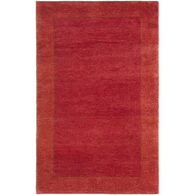 Safavieh Hand-knotted Gabeh Passage Rust Wool Rug (3' x 5')
