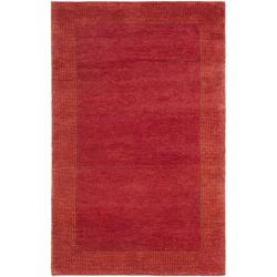 Hand-knotted Gabeh Passage Rust Wool Rug (3' x 5')