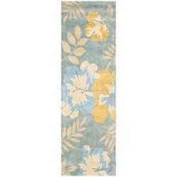 Safavieh Handmade Soho Blue/ Multi New Zealand Wool Rug (2'6 x 14')