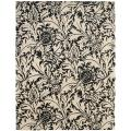 Handmade Bliss Beige/ Black New Zealand Wool Rug (7'6 x 9'6)