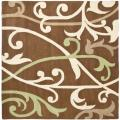 Handmade Passage Brown New Zealand Wool Rug (6' Square)