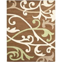 Safavieh Handmade Passage Brown New Zealand Wool Rug (7'6 x 9'6)