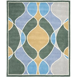 Safavieh Handmade Tiff Grey New Zealand Wool Rug (7'6 x 9'6)